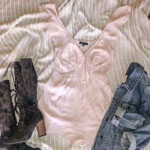 Kendall & Kylie Pale Pink Ruffle Romper